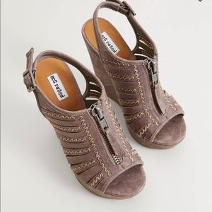 Not Rated Brown Saucin Wedge Sandal